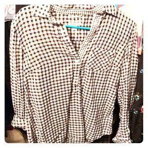 Merona checkered button down shirt